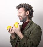 Ο κ. IceMan, χαμογελώντας άτομο με μια γενειάδα, γενειάδα Στοκ Εικόνες