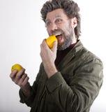 Ο κ. IceMan, χαμογελώντας άτομο με μια γενειάδα, γενειάδα Στοκ Φωτογραφίες