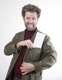Ο κ. IceMan, χαμογελώντας άτομο με μια γενειάδα, μια γενειάδα Στοκ Φωτογραφία