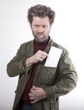 Ο κ. IceMan, χαμογελώντας άτομο με μια γενειάδα, μια γενειάδα Στοκ εικόνα με δικαίωμα ελεύθερης χρήσης