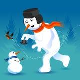 ο κ. snowman Στοκ φωτογραφία με δικαίωμα ελεύθερης χρήσης