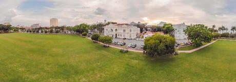 Ο λάμα Kota Padang ή αποκαλούμενος απλά Padang, είναι το έδαφος παρελάσεων και ο αγωνιστικός χώρος που δημιουργούνται από τους βρ στοκ εικόνες