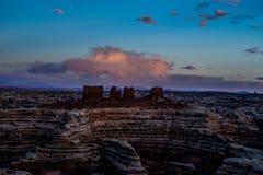 Ο λαβύρινθος αγνοεί το ηλιοβασίλεμα Στοκ Εικόνες