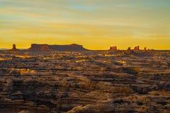 Ο λαβύρινθος αγνοεί το ηλιοβασίλεμα Στοκ εικόνες με δικαίωμα ελεύθερης χρήσης
