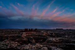 Ο λαβύρινθος αγνοεί το ηλιοβασίλεμα Στοκ φωτογραφία με δικαίωμα ελεύθερης χρήσης