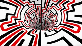 Ο λαβύρινθος λαβύρινθων wormhole διοχετεύει σηράγγων πτήσης άνευ ραφής βρόχων ζωτικότητας δροσερό συμπαθητικό ποιοτικού εκλεκτής  ελεύθερη απεικόνιση δικαιώματος