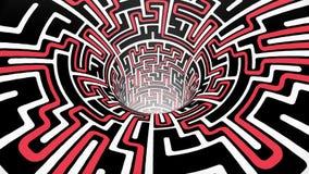 Ο λαβύρινθος λαβύρινθων wormhole διοχετεύει σηράγγων πτήσης άνευ ραφής βρόχων ζωτικότητας δροσερό συμπαθητικό ποιοτικού εκλεκτής  απεικόνιση αποθεμάτων
