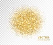 Ο λαμπιρίζοντας κύκλος, χρυσός ακτινοβολεί έκρηξη Διανυσματική σκόνη στο διαφανές υπόβαθρο Στοκ εικόνες με δικαίωμα ελεύθερης χρήσης