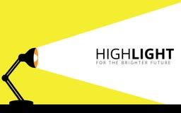 ο λαμπτήρας γραφείων φωτίζει το φως του στο διανυσματικό σχέδιο απεικόνισης τοίχων ελεύθερη απεικόνιση δικαιώματος