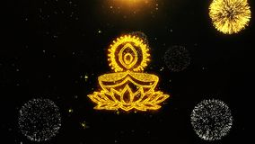 Ο λαμπτήρας Diya Deepak επιθυμεί την κάρτα χαιρετισμών, πρόσκληση, το πυροτέχνημα εορτασμού περιτυλίχτηκε διανυσματική απεικόνιση
