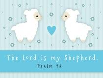 Ο Λόρδος Is My Shepherd διανυσματική απεικόνιση