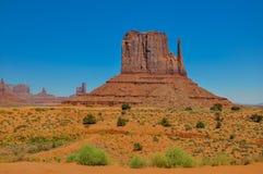 Ο λόφος δυτικών γαντιών, σχηματισμός βράχου, στην κοιλάδα μνημείων, Arizo Στοκ φωτογραφία με δικαίωμα ελεύθερης χρήσης