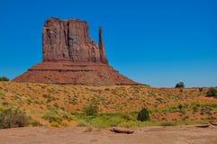 Ο λόφος δυτικών γαντιών, σχηματισμός βράχου, στην κοιλάδα μνημείων, Arizo Στοκ φωτογραφίες με δικαίωμα ελεύθερης χρήσης