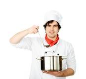 Ο μάγειρας προετοιμάζεται στοκ εικόνες