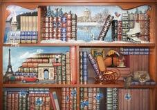 Ο μαγικός κόσμος των βιβλίων Έννοια γραφική Στοκ φωτογραφία με δικαίωμα ελεύθερης χρήσης