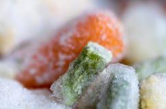 Ο μακρο πυροβολισμός των παγωμένων λαχανικών στοκ εικόνες με δικαίωμα ελεύθερης χρήσης