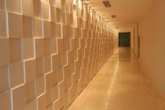 ο μακρύς άσπρος καθαρός διάδρομος Στοκ Εικόνες