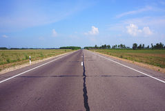 Ο μακρύς δρόμος στη Ρωσία Στοκ φωτογραφία με δικαίωμα ελεύθερης χρήσης