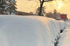 Ο μακρύς χειμώνας συνεχίζεται στην Ευρώπη Στοκ φωτογραφία με δικαίωμα ελεύθερης χρήσης