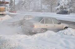 Ο μακρύς χειμώνας συνεχίζεται στην Ευρώπη Στοκ εικόνα με δικαίωμα ελεύθερης χρήσης
