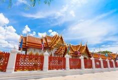 Ο μαρμάρινος ναός Wat Benchamabopit Στοκ Εικόνες
