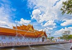 Ο μαρμάρινος ναός Wat Benchamabopit Στοκ Φωτογραφία
