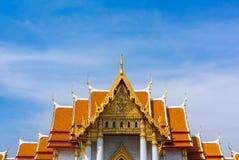 Ο μαρμάρινος ναός, Wat Benchamabopit Dusitvanaram στη Μπανγκόκ, θόριο Στοκ φωτογραφία με δικαίωμα ελεύθερης χρήσης