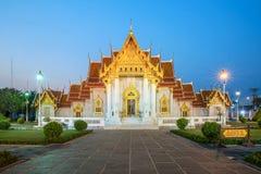 Ο μαρμάρινος ναός, Wat Benchamabopitr Dusitvanaram Μπανγκόκ THAIL Στοκ Φωτογραφία