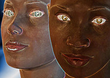 ο Μαύρος ακτινοβολεί λευκό Στοκ Φωτογραφία