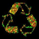 ο Μαύρος ανακύκλωσης Στοκ εικόνες με δικαίωμα ελεύθερης χρήσης