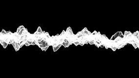 Ο μαύρος αφηρημένος αριθμός από ένα πλέγμα είναι αργά παραμορφωμένος σε ένα λευκό r ελεύθερη απεικόνιση δικαιώματος