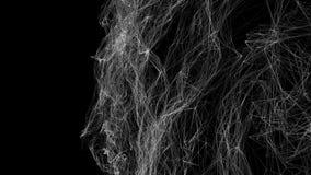 Ο μαύρος αφηρημένος αριθμός από ένα πλέγμα είναι αργά παραμορφωμένος σε ένα λευκό r απεικόνιση αποθεμάτων
