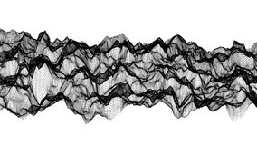 Ο μαύρος αφηρημένος αριθμός από ένα πλέγμα είναι αργά παραμορφωμένος σε ένα λευκό r διανυσματική απεικόνιση