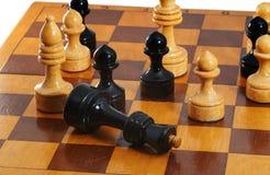 Ο μαύρος βασιλιάς σκακιού σταματά Στοκ εικόνα με δικαίωμα ελεύθερης χρήσης
