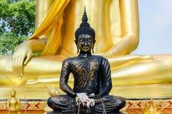 ο μαύρος Βούδας Στοκ φωτογραφία με δικαίωμα ελεύθερης χρήσης