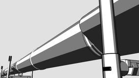 Ο μαύρος βρόχος σωληνώσεων κινούμενων σχεδίων μετακινείται τη ζωτικότητα CG για τις εκθέσεις και τις παρουσιάσεις, 4K βίντεο ελεύθερη απεικόνιση δικαιώματος