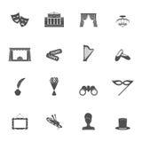 Ο Μαύρος εικονιδίων θεάτρων Στοκ φωτογραφίες με δικαίωμα ελεύθερης χρήσης