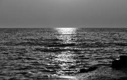 Ο Μαύρος & λευκό ηλιοβασιλέματος Στοκ Εικόνες