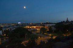 Ο Μαύρος & λευκό της Στοκχόλμης τοπίων πόλεων στοκ φωτογραφία με δικαίωμα ελεύθερης χρήσης