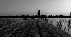 Ο Μαύρος και whyte Στοκ Εικόνα