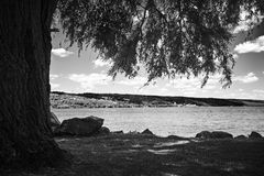 Ο Μαύρος και wight τοπίο Στοκ Εικόνες