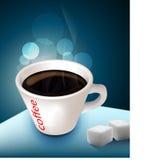 ο μαύρος καφές συσσωρεύ&eps ελεύθερη απεικόνιση δικαιώματος