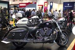 Ο Μαύρος μοτοσικλετών νίκης Στοκ Εικόνες
