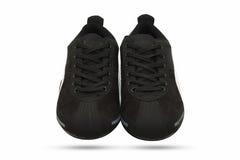 Ο Μαύρος παπουτσιών στο άσπρο υπόβαθρο Στοκ εικόνες με δικαίωμα ελεύθερης χρήσης