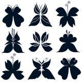 Ο Μαύρος πεταλούδων λογότυπων διανυσματική απεικόνιση