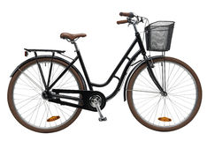 Ο Μαύρος ποδηλάτων πόλεων Στοκ Εικόνα
