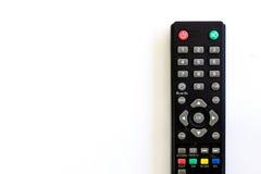 Ο Μαύρος τηλεχειρισμού TV στο λευκό Στοκ Εικόνες