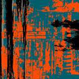 Ο Μαύρος υποβάθρου Grunge Σκούρο μπλε Πορτοκάλι Στοκ Φωτογραφίες
