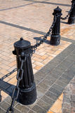 Ο Μαύρος χυτοσιδήρων στυλίσκων Στοκ Εικόνες