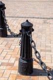 Ο Μαύρος χυτοσιδήρων στυλίσκων Στοκ Φωτογραφία
